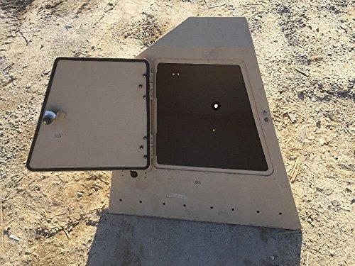 BAE Vehicular Side Accessory Storage Box Tan Aluminum 4287774 ()