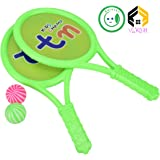 Aarushi Badminton Tennis Racket with Two Balls for Children - Radom Colour