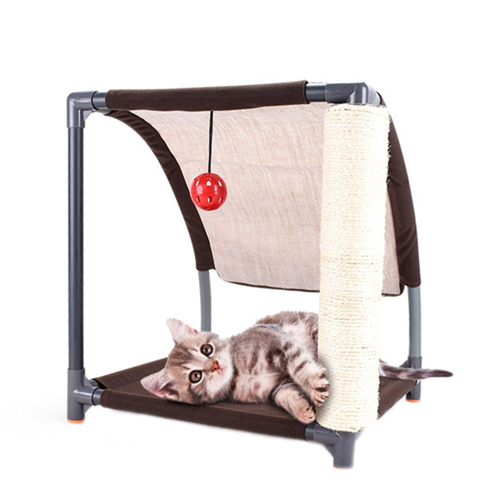 Pet Cat Bed Kitten Toys Mobile Activity Playing Bed Toys Cat Bed House Pet Furniture Cat Tent Toys Hanging Ball