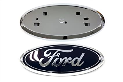Ford Edge Front Grille Blue Emblem Chrome Grill Holder Mount Oem New