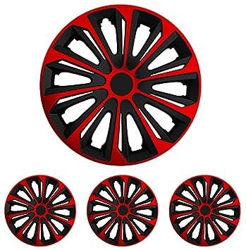 Tapacubos – Tapacubos Tapacubos Strong negro de color rojo 15 pulgadas 15 R15 Fiat