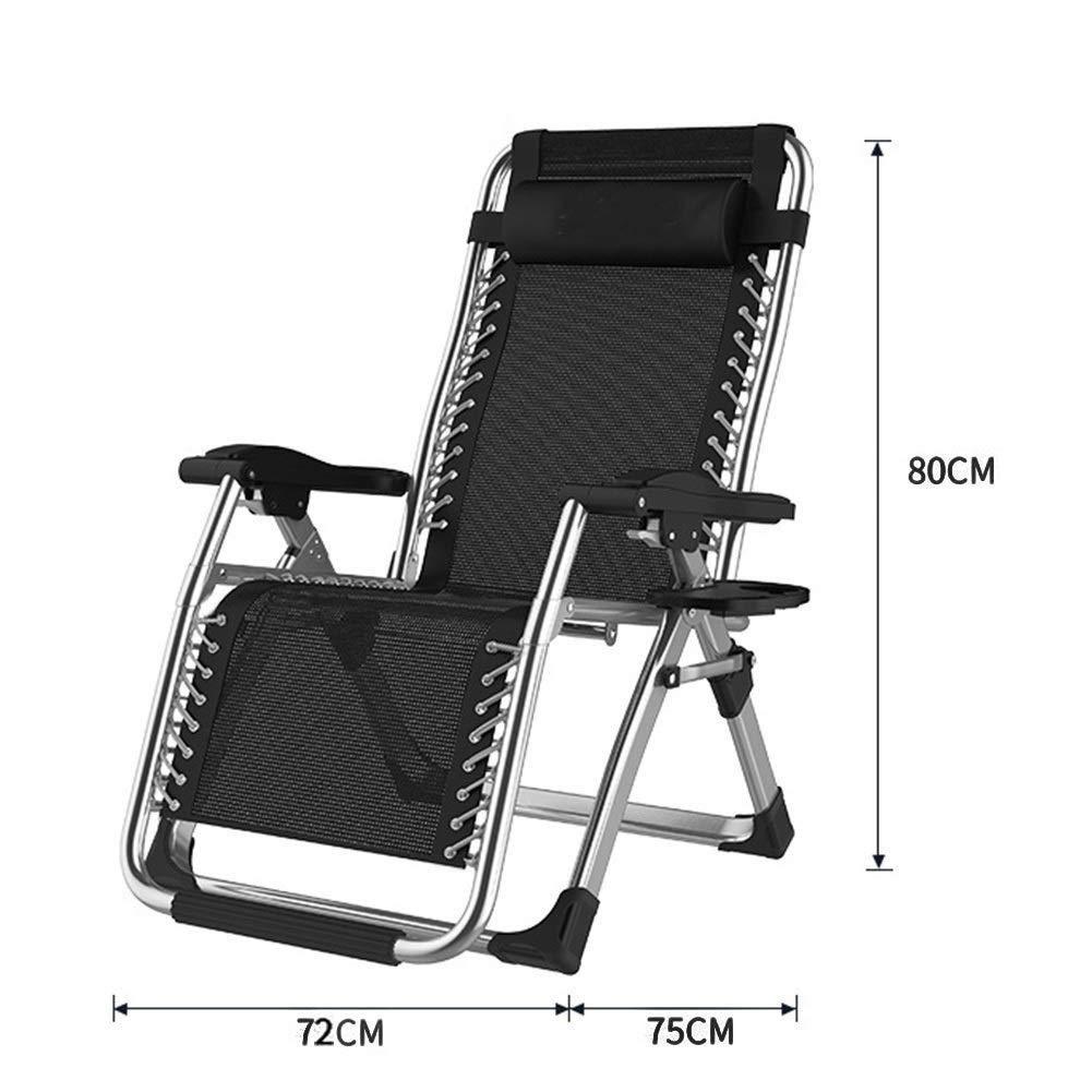 reclinable FENGLIAN Sof/á c/ómodo para Exteriores Tumbona Plegable con Soporte para Taza reclinable