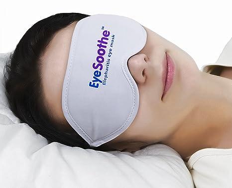 Máscara para ojos EyeSoothe para blefaritis con paquete de gel para calentar y bolsa