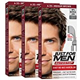 Just For Men AutoStop Men's Comb-In Hair Color, Medium Brown (Pack of 3)