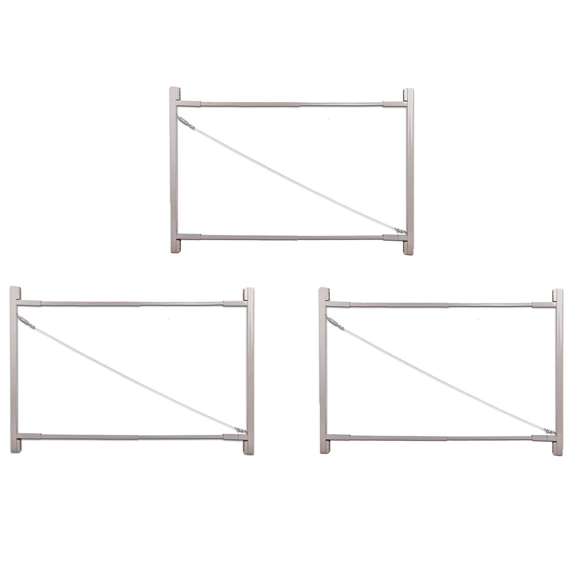 Adjust-A-Gate Gate Building Kit, 36''-72'' Wide Opening up to 6' High (3 Pack) by Adjust-A-Gate (Image #1)