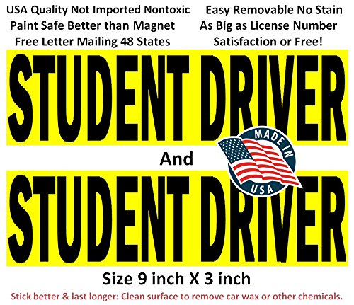 "4 NEW DRIVER /""Please Be Patient/"" Magnetic Signs 5/"" x 5/"" for Student Driver r//y"