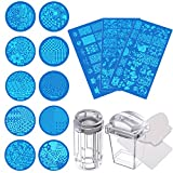 eBoot 13 Pieces Nail Art Stamping Plates and 2 Set of Nail Art Stamper Scraper
