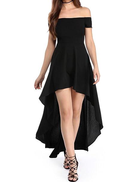 d3f90aaa3 emmarcon Elegante Abito Cerimonia da Donna Vestito Lungo Damigella Scollo  Barchetta Festa Party: Amazon.it: Abbigliamento