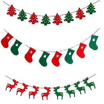 Christmas Tree Deer Stocking Bunting for Christmas Hanging ...
