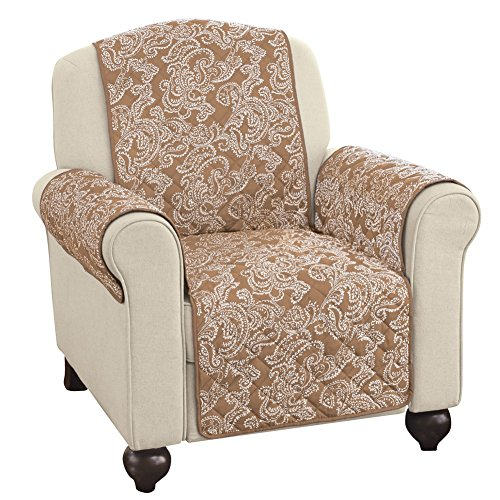 Protective Chair Covers (Paisley Reversible Furniture Protector Cover, Sand, Chair)