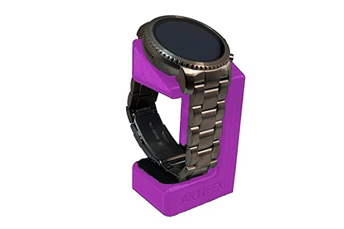 Artifex Motif Support Configuré pour Fossil Q eXplorist et Q Venture Gen 3 Smartwatch Support de Charge, Artifex Station de Chargement avec Support Violet: ...
