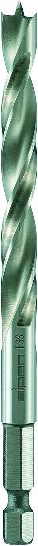 """/∅ 6 mm alpen 62200600100 HSS Maschinen-Holzspiralbohrer /¼/"""" Sechskant-Schaft L1 107 mm L2 57 mm"""