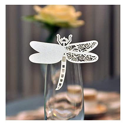 Amazon Yufeng Laser Cut Wine Glass Card Name Place Card Home
