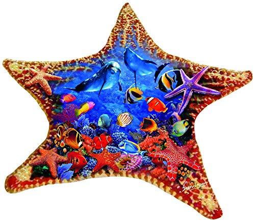 SunsOut Starfish 600 Piece Shaped Jigsaw Puzzle