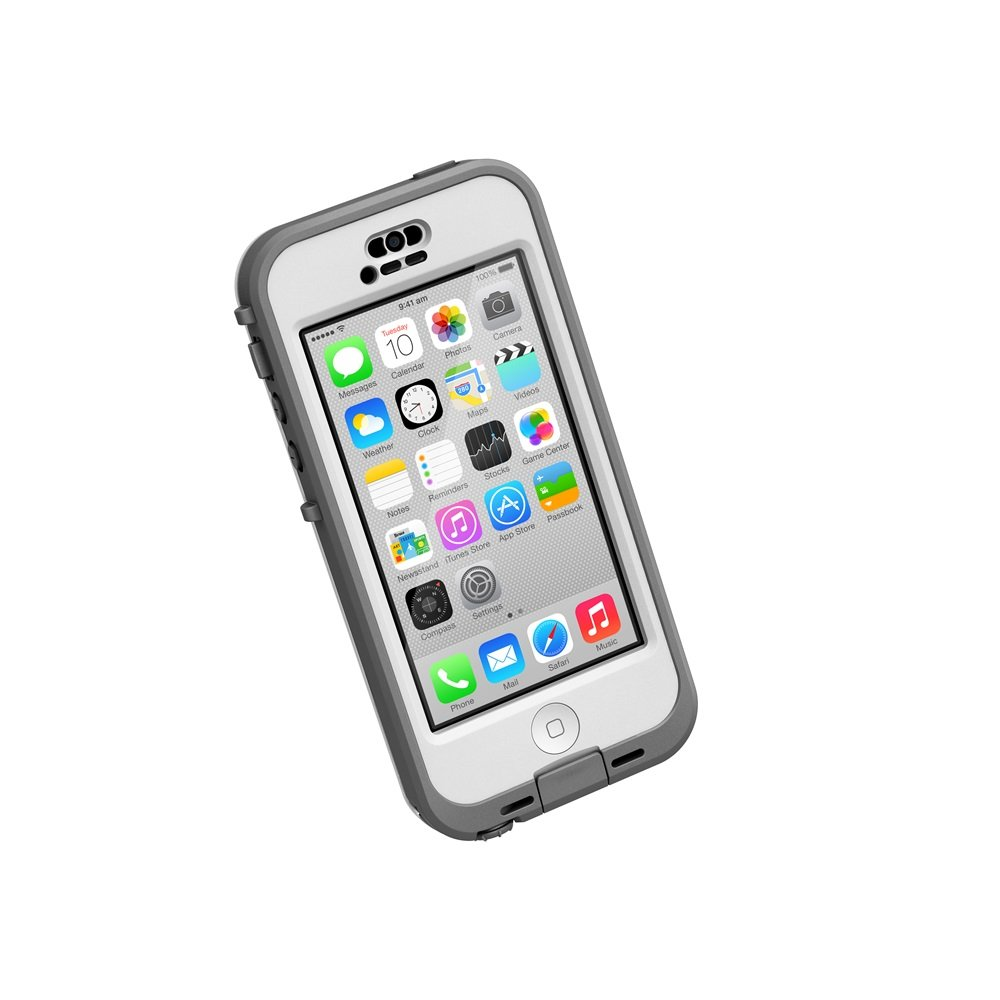 LifeProof NÜÜD Series Case for iPhone 5c (Only) - Retail Packaging - White/Clear