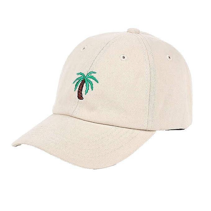 62d55f79f54 Fashion Cap Women Men Summer Spring Cotton Caps Coconut Tree Solid Adult  Baseball Cap Snapback Cap