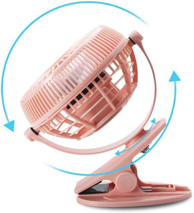 HUI JIN Portable Mini USB Fan 2 Speed Pink