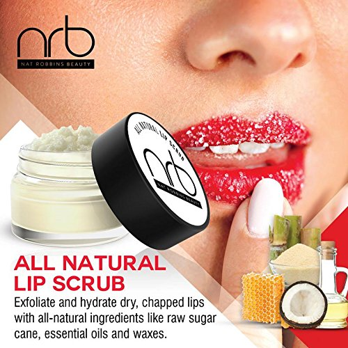 NRB Beauty Revival Lip Scrub 3 Piece Set - All Natural Sugar Based - Exfoliating & Moisturizes Chapped Dry Lips - 0.5 oz Each - Made In The USA - Citrus