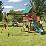 Swing-N-Slide Willows Peak Play Set, with Two Swings, Glider, Slide and Climbing Wall