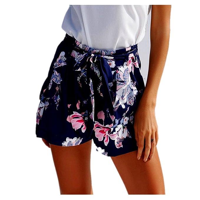 Luckycat Shorts Blumenmuster Weibliches Sommer Locker Damen txCsQhrd