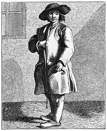 Paris Chimney Sweep C1740 Na Chimney Sweep On The Streets Of Paris France Engraving 1875 After An Etching By Edm Bouchardon C1740 Poster Print by (24 x 36) ()