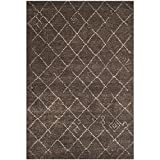 Safavieh Tunisia Collection TUN1511-KKH Dark Brown Area Rug, 5 feet 1 inches by 7 feet 6 inches (5'1″ x 7'6″)