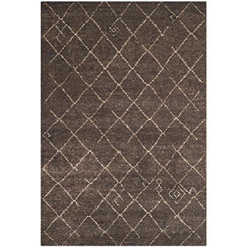 Safavieh Tunisia Collection TUN1511-KKH Dark Brown Area Rug, 5 feet 1 inches by 7 feet 6 inches (5'1