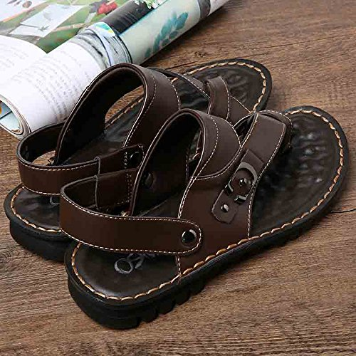 Metal Black Decoration Casual White EU38 CN38 Men MAZHONG Sandals Sliding Bottom Color Massage 5 Summer UK5 Size w1ySXqp