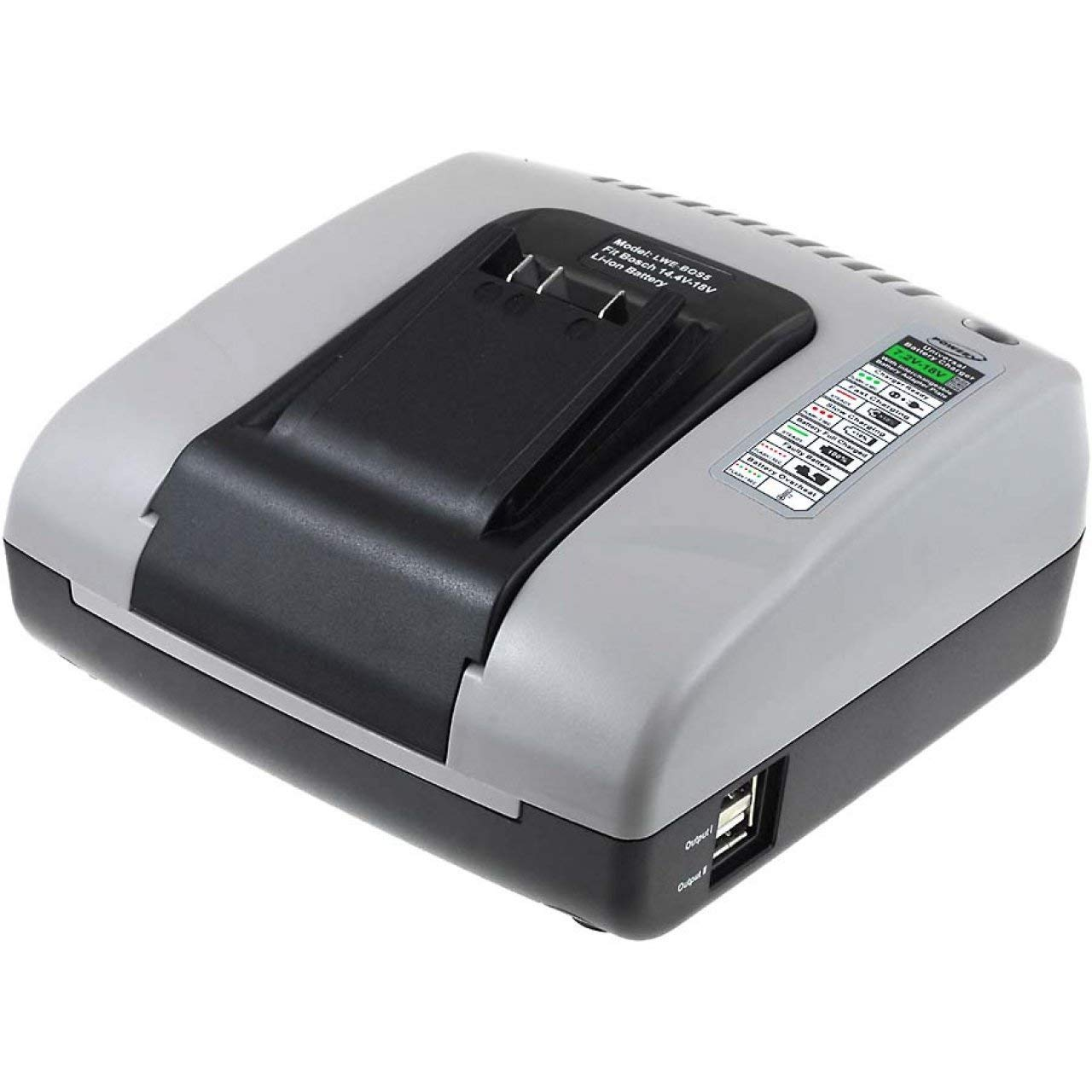 Powery Cargador de batería con USB para Herramienta Bosch ...