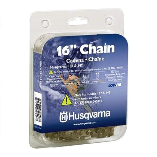 Husqvarna 531308147 (90sg-56 Lo-Pro sierra cadena, 3/8-inch ...