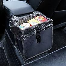 Hanging Car Trash Bag Can Premium Waterproof Litter Garbage Bag Organizer 1.85 Gallon Capacity Black Powertiger