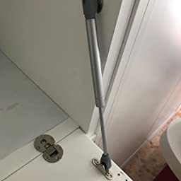 Emuca 1274025 Kits pistón amortiguador para puertas abatibles de mueble/ cocina/baño (fuerza, carrera/recorrido, Gris (Paint Aluminium), 6 kg 80 mm (10 unidades): Amazon.es: Bricolaje y herramientas