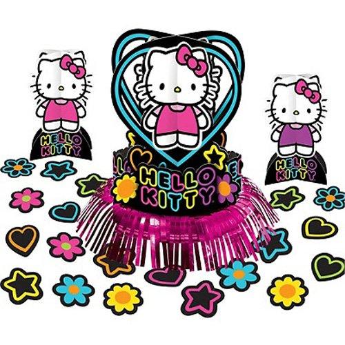 Hello Kitty 'Neon Tween' Table Decorating Kit (23pc) -