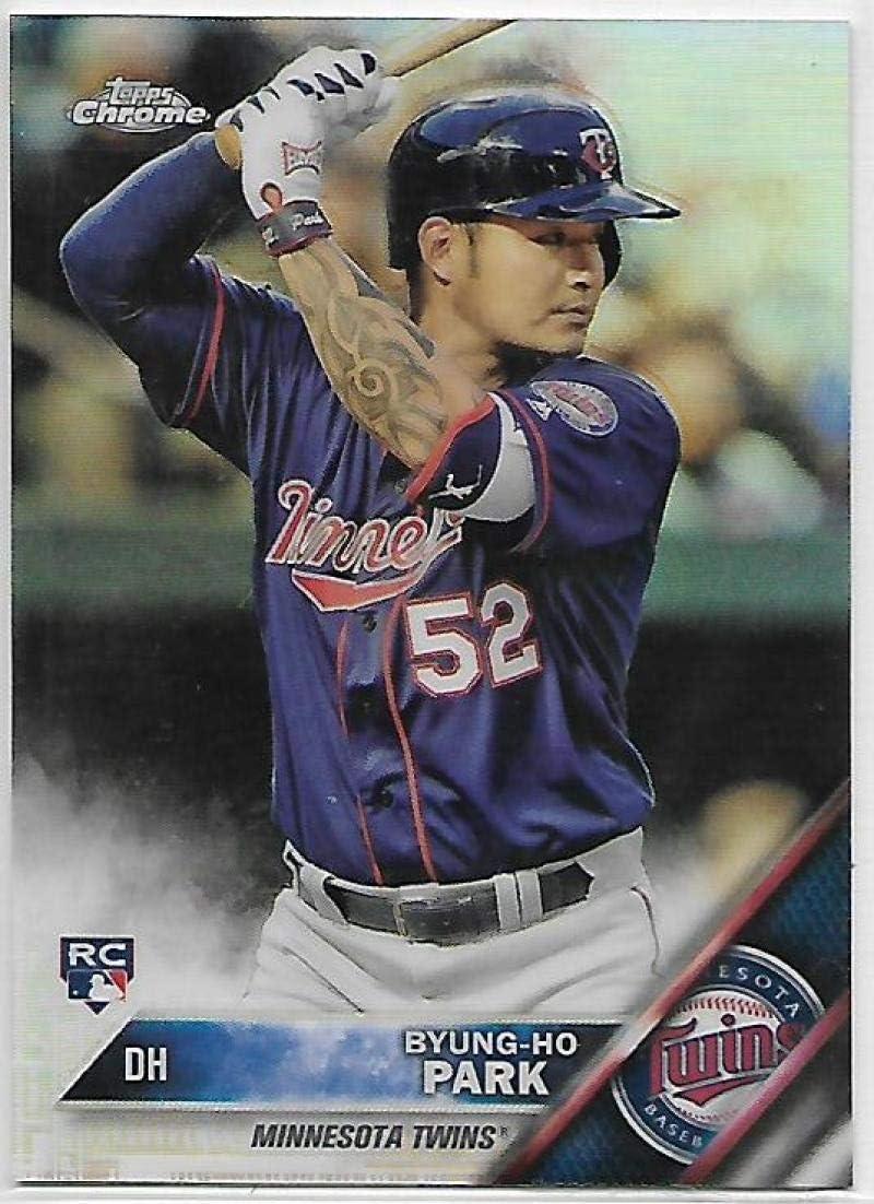 Amazon.com: Baseball MLB 2016 Chrome Refractor #13 Byung-Ho Park ...