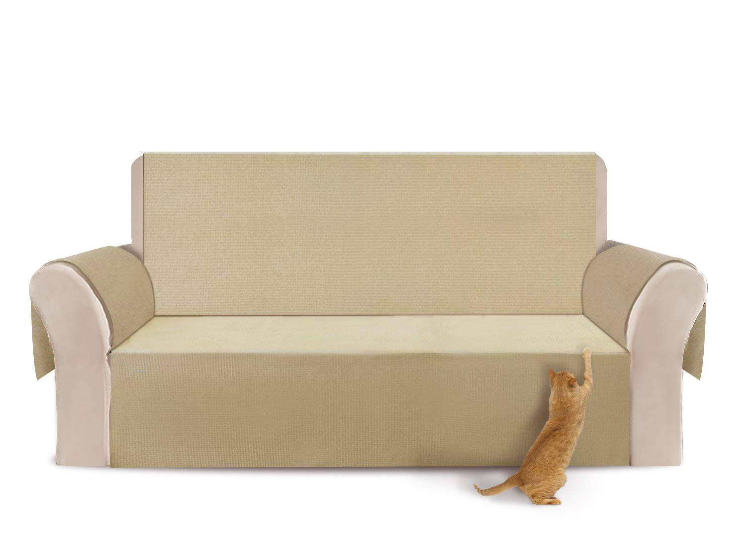 YEMYHOM 100% Non-Slip Large Couch Covers Anti-Leakage Oversized Sofa Slipcovers 3-Cushion Couch Protectors Pet Sofa Covers Dog Furniture Covers (Sofa ...