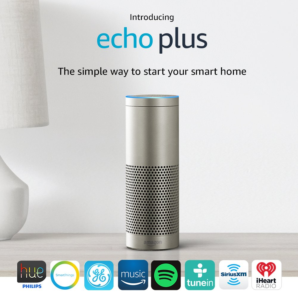 Echo Plus with built-in Hub � Silver + Philips Hue Bulb included