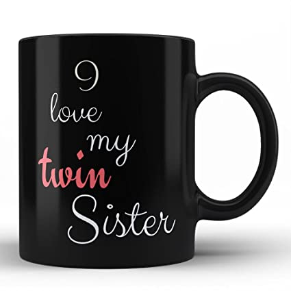 Funny Sister Mugs - Twin Sister Coffee Mugs Love Gifts for my Little Baby Elder or  sc 1 st  Amazon.com & Amazon.com: Funny Sister Mugs - Twin Sister Coffee Mugs Love Gifts ...