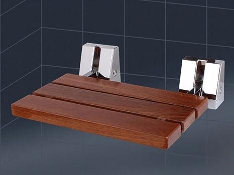Qpssp bathroom armrest legno duro bagno sedia pieghevole muro