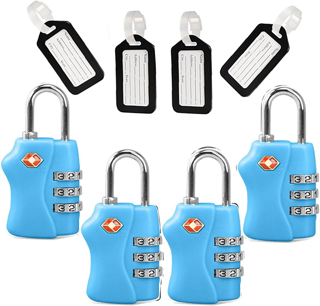 3 DIGIT ROUND COMBINATION LUGGAGE PADLOCK SECURITY BACKPACK SUITCASE TOOLBOX