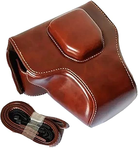 Bag for Olympus E-M10 14-42mm Universal Lens Brown Yunchenghe Leather Camera Protection Bag