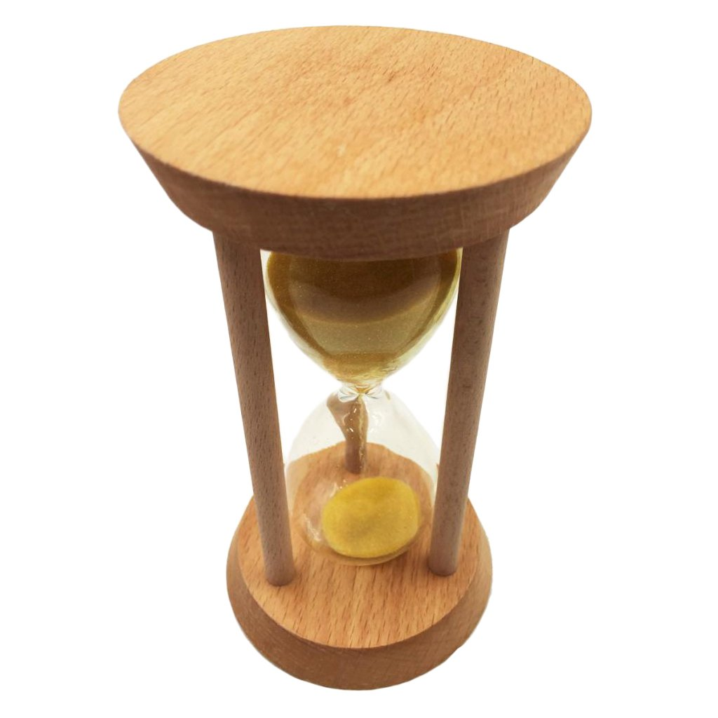 Homyl 20 Mins Oblique Wood Sand Glass Hourglass Clock Timers Kitchen Tools Home Decoration Special Needs Yellow