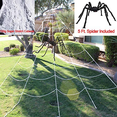 61k5lhrqTQL. AC  - Halloween Giant Spider Web Set Includes 5 ft