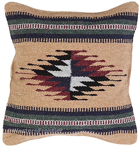 El Paso Designs Aztec Throw Pillow Covers, 18 X 18, Hand Woven in Southwest and Native American Styles. (Aztec Design)