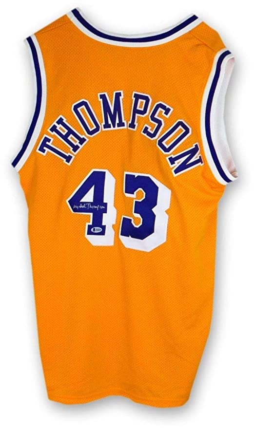 501980841e5a Image Unavailable. Image not available for. Color  Mychal Thompson  Autographed Signed Jersey Los Angeles Lakers Home Gold Beckett Authentic