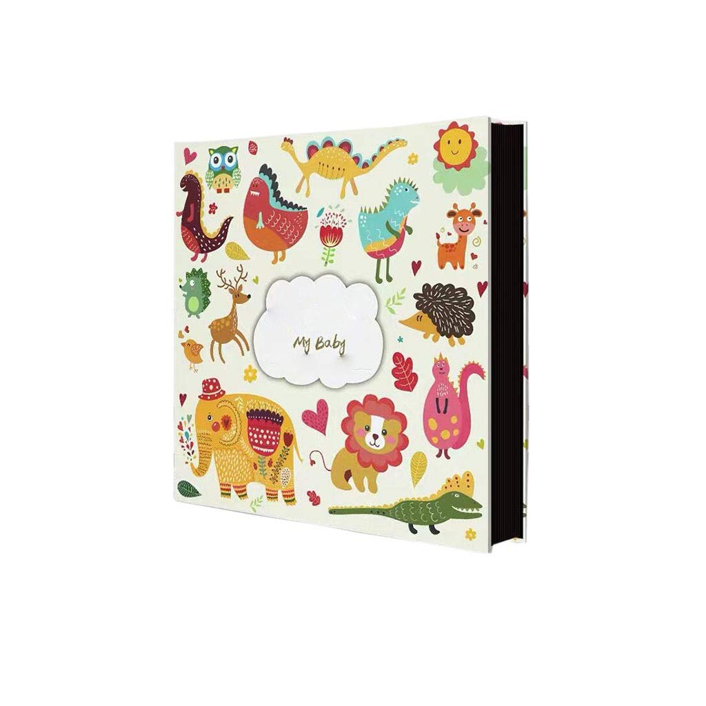 HU Manual Photo Album DIY Paste Album Large Capacity Family Couple Travel Record Book 32.5x33x4.7cm (Color : #3) by HU-Memorial album