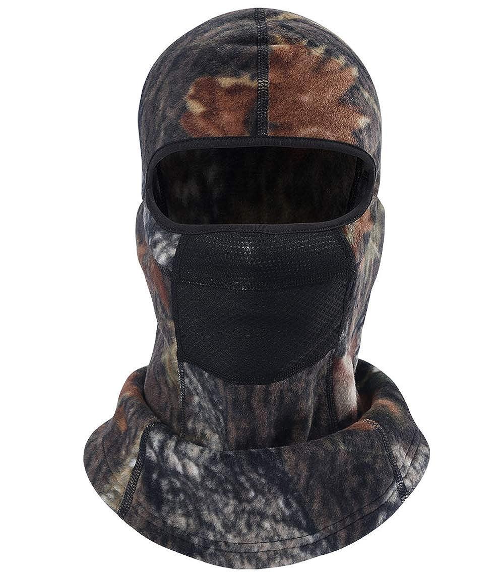 MIFULGOO Balaclava Ski Mask Full Face Cover Windproof Hood for Cold Winter Weather Camo