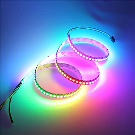 Amazon alitove 32ft 144 pixels ws2812b individually alitove 32ft 144 pixels ws2812b individually addressable led strip light 5050 rgb dream color programmable aloadofball