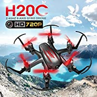 JJRC H20C Mini RC Drone 6 Axis 2.4G Quadcopter With HD 2.0MP 720P Camera 3D Flips Roll, One Key Return Headless Mode Quadcopter