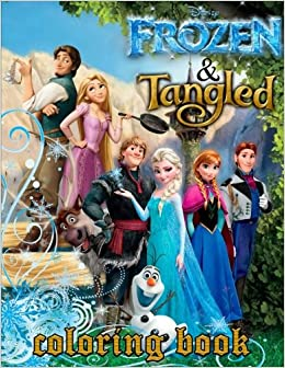 Coloring Book 2 In 1 Frozen And Tangled Disney Great Pages For Kids Adults 50 Illustrations Amazoncouk Mrs Fox 9781986924214 Books