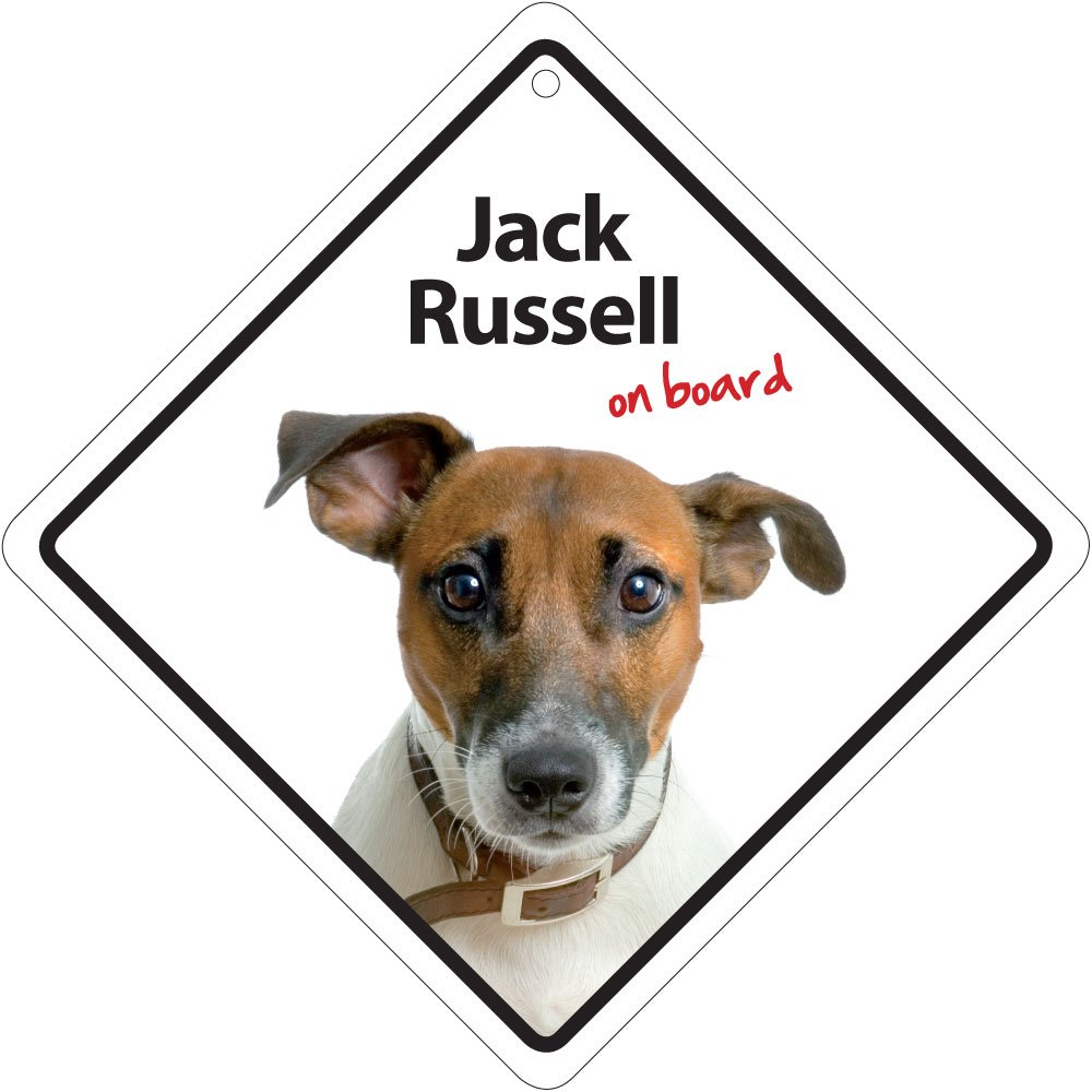 Jack Russell on Board Plastic Sign